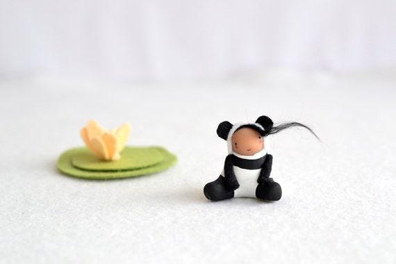 xiao lin - panda girl figurine by royalmint