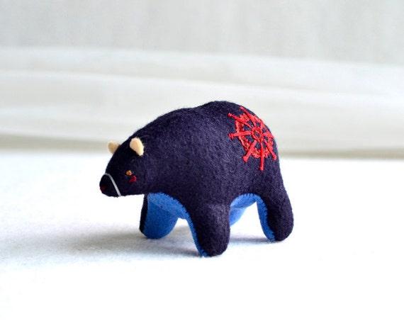 seafaring spirit bear - soft sculpture animal by mountroyalmint