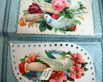 1800s Salesmans Sample Book of Victorian Calling Cards