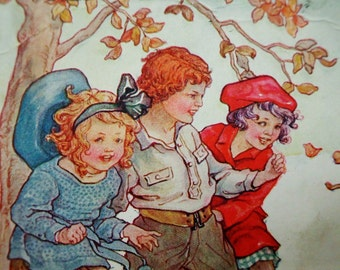 Rare-Rally Day Postcard, Sunday School children Early 1900s