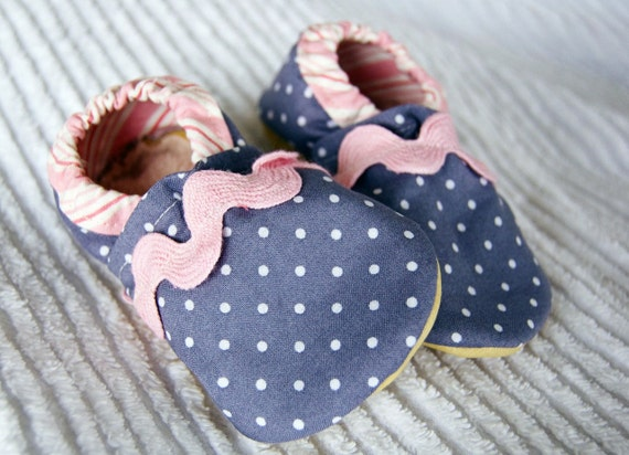 Pink Elephants Luxe Booties (Leather Sole) Size 6-12 Months Ready to Ship