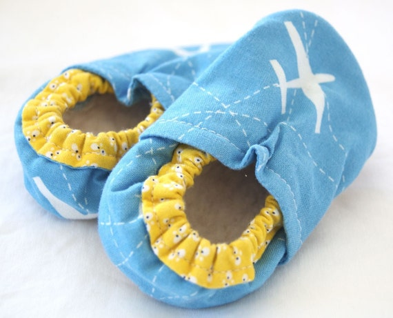 Flight School Bison Booties Size 6 to 12 Months Ready to Ship airplane travel made in usa