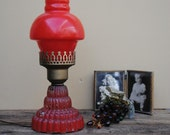 SALE    Little Red Vintage Lamp