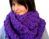Warm Purple  Fashion Circle Scarf Super Soft Circle Neckwarmer Woman ' Scarf