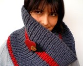 Love Knit Cowlnwck Super Soft mixed Wool Circle Scarf woman Cowl