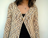 Variegated Summer Open Sweater Trendy mixed Cotton Hand Knit Woman Jacket Sweater NEW COLLECTION