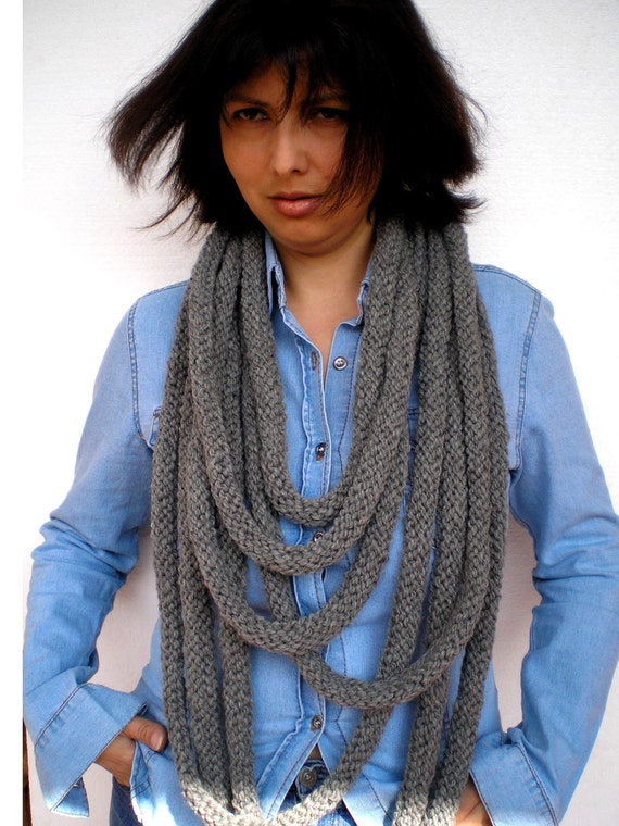Trendy Snake  Necklace Rustic Natural wool Knit Necklace Woman Stylish  Colar  ScarfNEW  COLLECTION