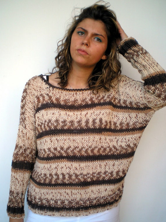 Jacky Variegated Sweater Trendy Hand Knit Woman Sweater NEW COLLECTION
