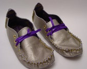 23 TRIBES -custom and made to order  metallic  leather moccains
