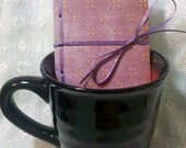 Royal Plum, Mini-Mini Journal. Pocket, Tea, and Coffee sized
