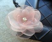 Blushing Bella- soft pink hairpiece, blush pink hair flower,bridal hairpiece,bridal hair flower, pink hair flower,pink hairpiece, fascinator