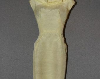 Barbie yellow sheath dress
