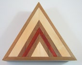 Chevron Handcrafted Jewelry/Keepsake Box - FREE SHIPPING (Continental US).