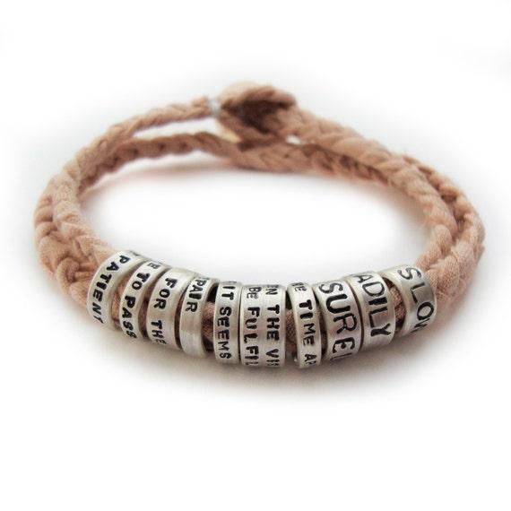 ten tiny silver rings...bracelet