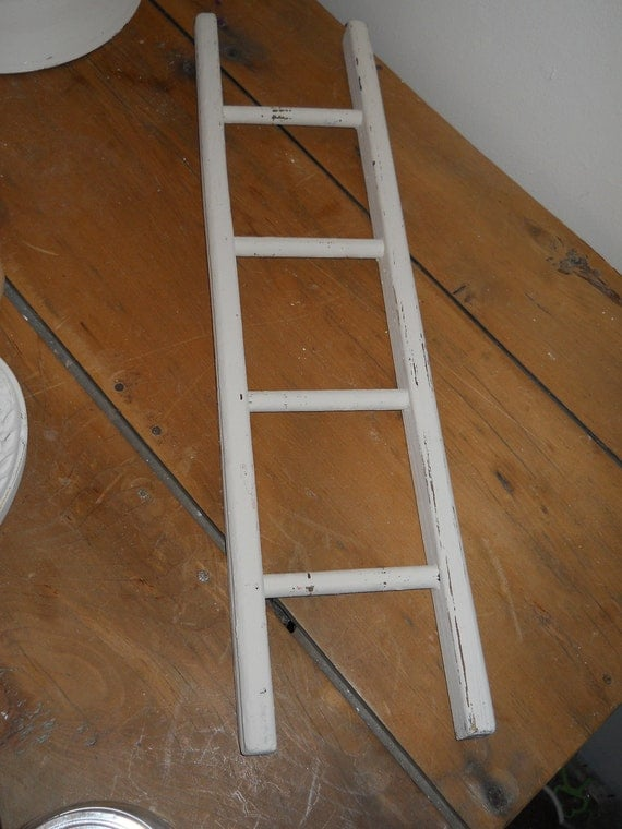 Decorative ladder shabby chic - Decorative ladder for bathroom ...