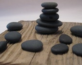 Black Beach Stones for Jewelry Making: Beautiful Collection of 13