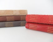 Handmade Leather journal - reclaimed leather journals and suede journals - leather notebook - suede notebook