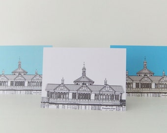 Blank Card, Seaside notecard, Dunoon Pier, Scotland Card, greeting card, birthday card, blank notelet
