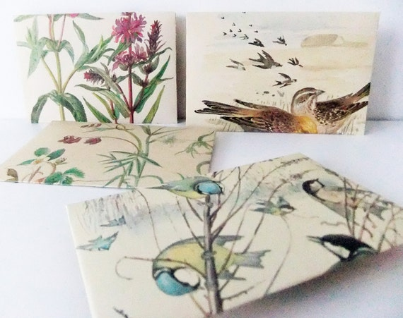 Recycled envelopes made from The Country Diary of an Edwardian Lady