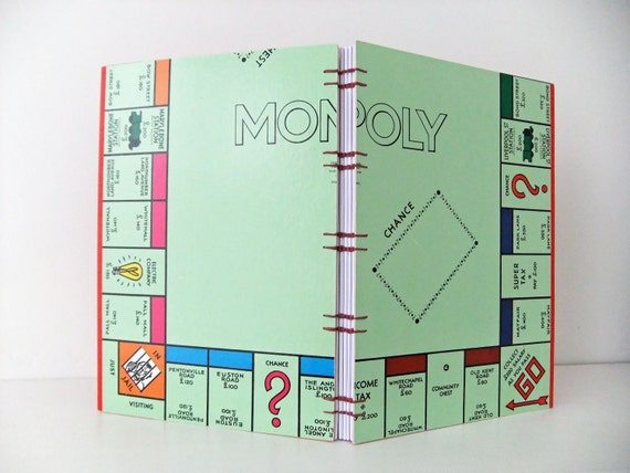 Handbound London Monopoly journal - recycled