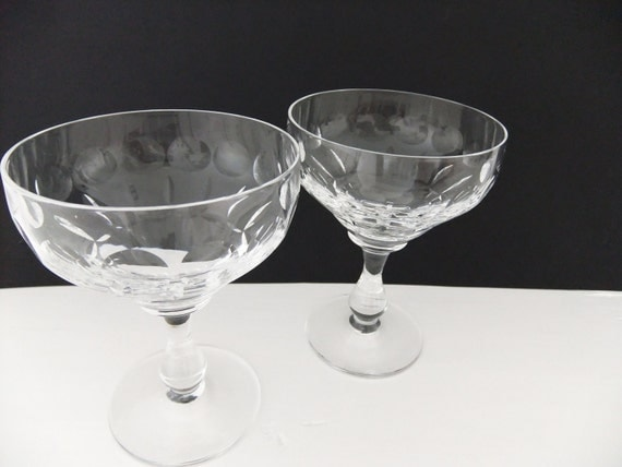 Champagne Saucers / champagne coupes / vintage cocktail glasses - Edinburgh Crystal