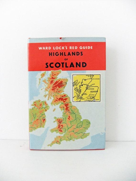 Vintage travel book - Ward Lock Red Guide - Highlands of Scotland