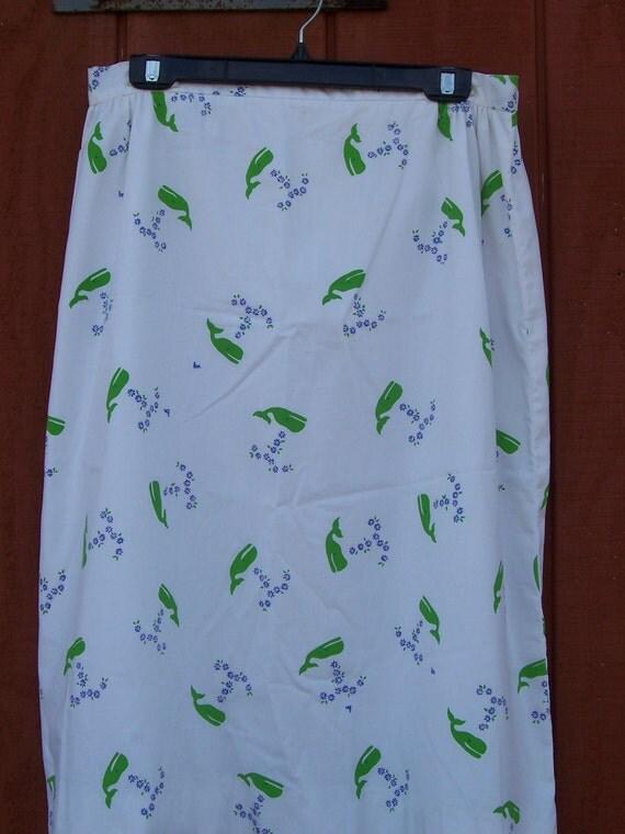The Vested Gentress Vintage 1980s preppy whale skirt plus size XL