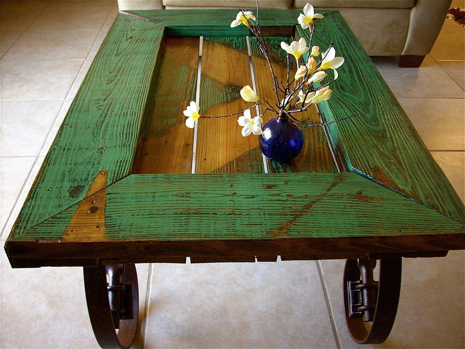 Barn Door Coffee Table