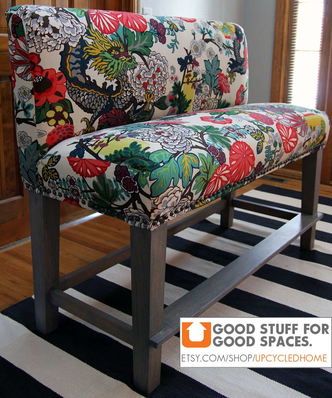Counter Height Upholstered Bench : Custom Parsons Style Upholstered Counter Height by ShopSpacePlace