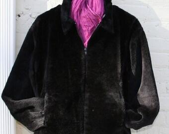 Vintage faux fur car coat Size M
