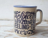 Retro Tea Mug with Typography