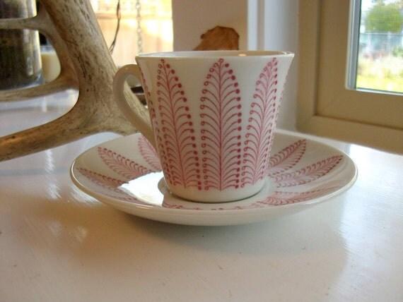 Vintage Upsala-Ekeby Cup and Saucer -