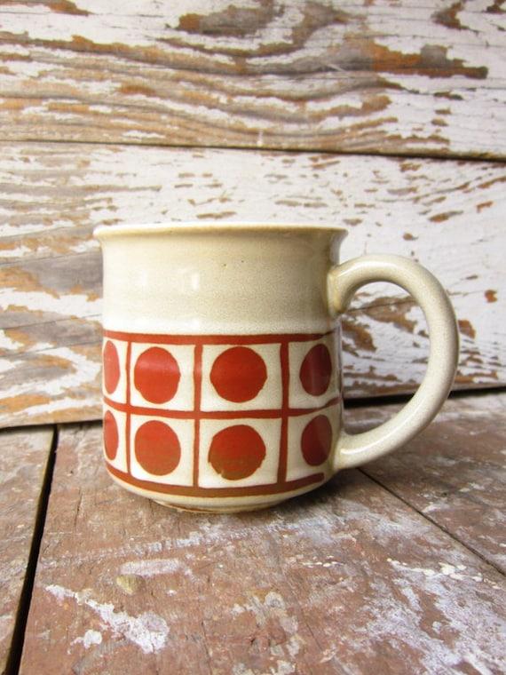 Vintage Modern Stoneware Mug