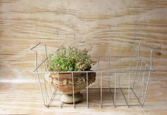 Vintage Wire Handled  Basket