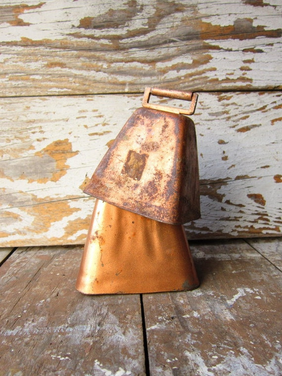 Two Rusty Cowbells FREE SHIPPING