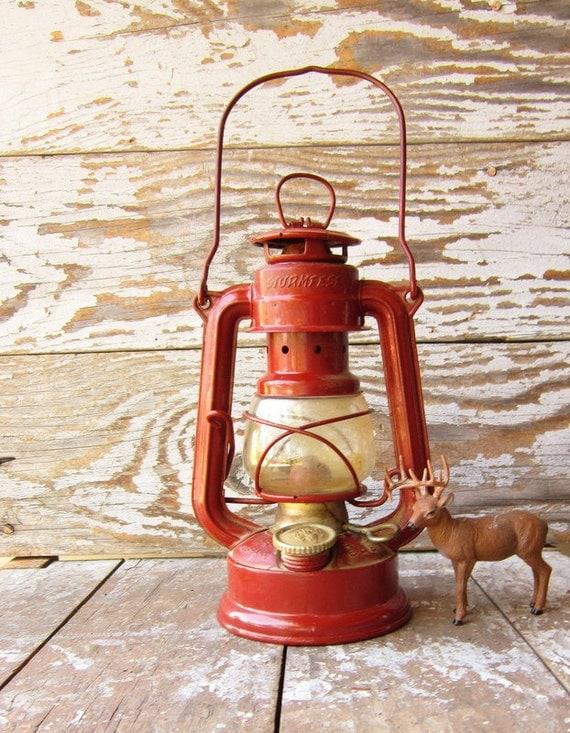 Vintage Red Lantern Feuerhand 175