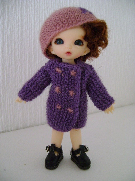 French Knitting Owl Doll : French and english knitting pattern pdf coat hat