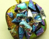 Dichroic Glass Pendant with Tons of Sparkle 1001112
