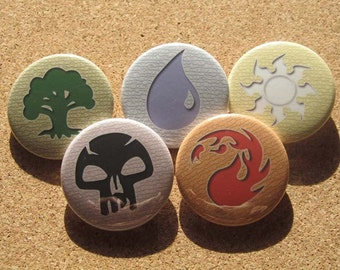 Magic CCG Mana pin set of 5