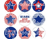 Patriotic Stars 4th of July Bottlecap Images 1 Inch Circles Patriotic Fourth Bottlecaps Hairbows Jewelry Magnets and More INSTANT DOWNLOAD