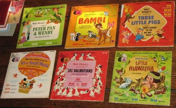 "1960s ""Read Along"" Disney Record Lot"