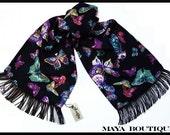 Beautiful Butterfly Scarf Wrap Georgette By Maya
