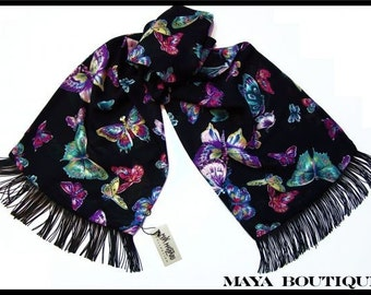 Beautiful Butterfly Scarf Wrap Georgette By Maya