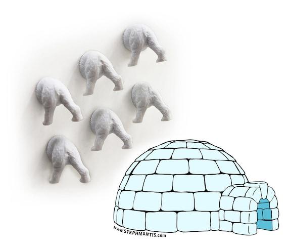 HOLIDAY SPECIAL Polar Bear Butt Magnets