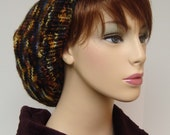 Autumn Colors Merino Wool Big Beret, Size XL