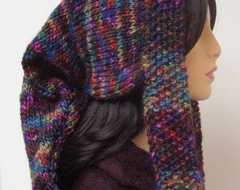 Unique and Colorful Snood Style Stocking Hat