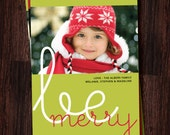 swirly be merry / photo / holiday / christmas / card / printable