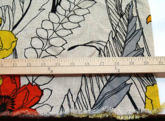 large print, bold design vintage fabric