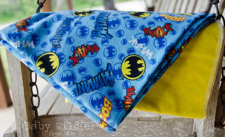 Baby Boy Blankets Receiving Flannel Swaddle Wrap Large Batman