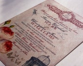 Vintage Wedding Invitation Sample - Whimsical French Baroque - LAUREN Collection